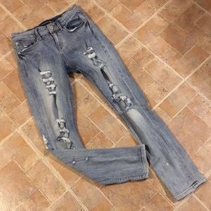 Express distressed skinny jeans size women's 0
